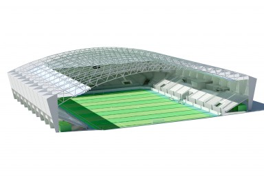 Preliminary design of  Stadium in Iran