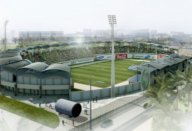"Rehabilitation of ""Great man made river stadium"" in Tripoli"